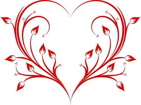 Abstract heart.  Vector
