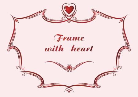 etiqueta: Frame with heart.
