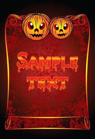 Halloween card.  Stock Vector - 10708812
