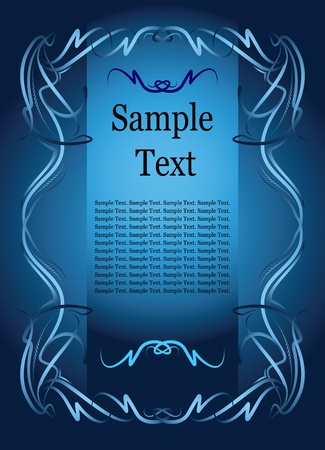 etiqueta: Elegant text frame.