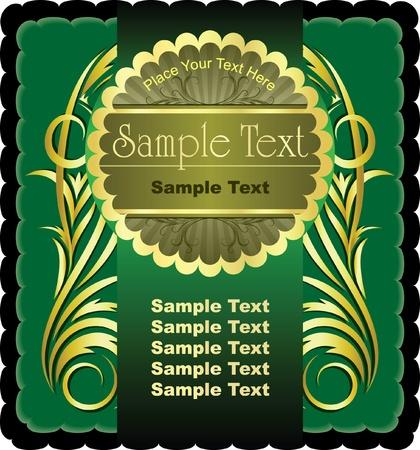 etiqueta: Green label.  Illustration