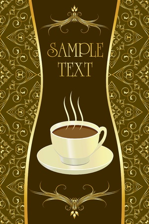confectionery: Background for design with coffee.