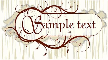 Elegant texts frame. Stock Vector - 10709135