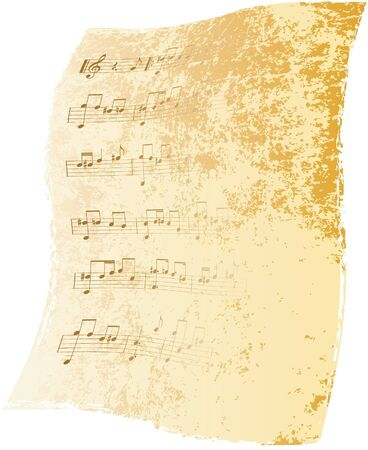 classical style: Old music-paper background