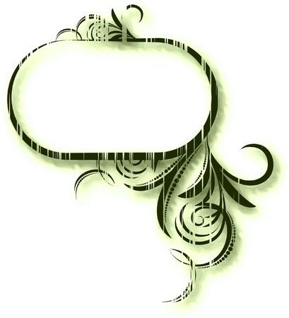 Elegant oval frame.  Vector