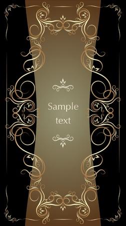 tendril: Elegant vintage background