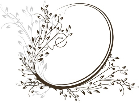 Beautiful oval frame. Vector  Vector