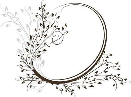 Beautiful oval frame. Vector  Vector
