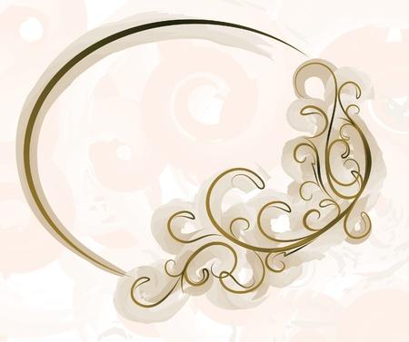 Elegant oval frame Stock Vector - 10708786