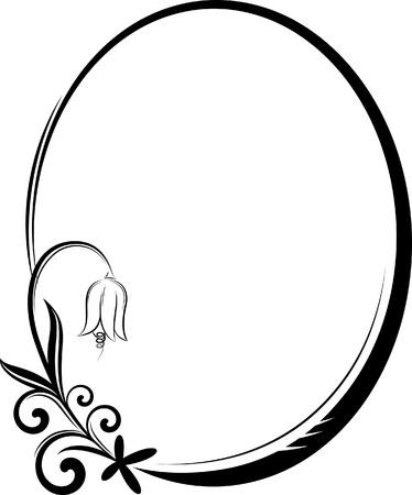 flourishes: Elegant oval frame