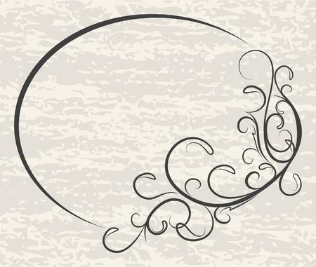 エレガントな楕円形フレーム