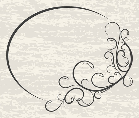 an oval: Marco ovalado elegante