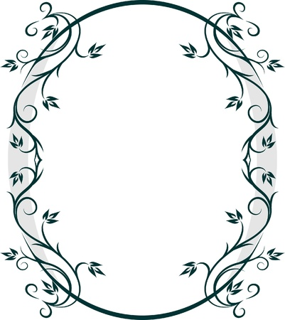 Beautiful oval frame. Vector