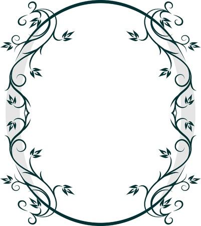 Mooie ovale frame. Vector