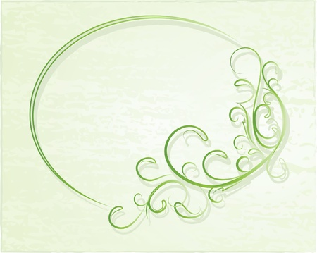 an oval: Elegante marco ovalado