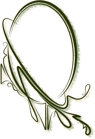 Elegant oval frame  Stock Vector - 10708655