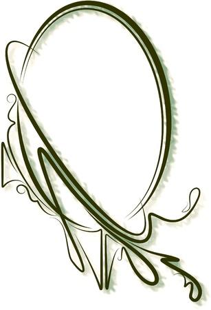 Elegante marco ovalado