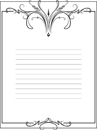 lined: Elegant vintage background.  Illustration