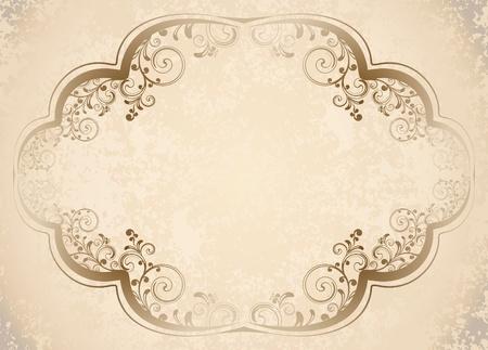 text box design: decorative vintage background  Illustration