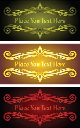 floral vector banners  Vector