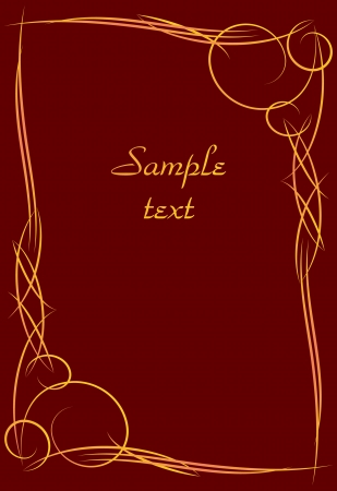gothic revival style: gold vector frame