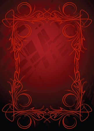 etiqueta: Elegant red background.  Illustration