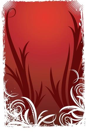 Elegant red background.  Vector