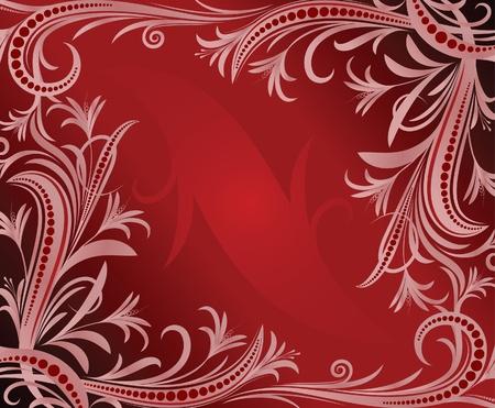 wine book: Elegant red background.  Illustration