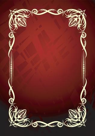 copertina libro antico: Elegante sfondo rosso.