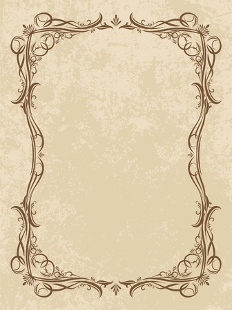 flores vintage: decorative vintage background  Illustration
