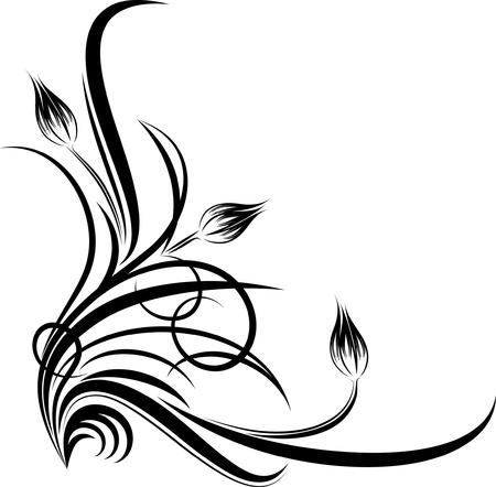 hoekversiering: prachtige bloemen hoek