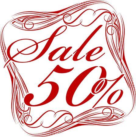 procent: Sale sticker.  Illustration