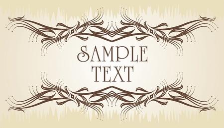 Elegant texts frame.  Vector