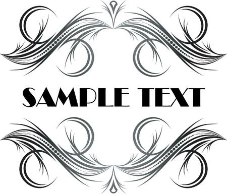 Elegant texts frames.  Stock Vector - 10707302