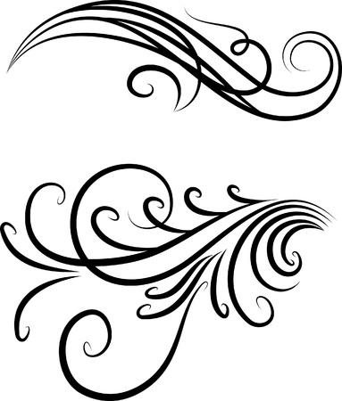 Elementos decorativos. Ilustración de vector