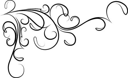 esquina de flores hermosas Ilustración de vector