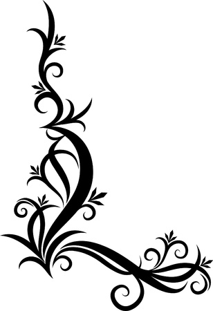 beautiful floral corner  Vector
