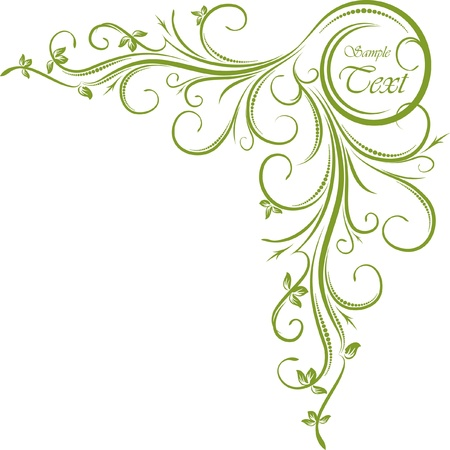 hoekversiering: Groene hoek Stock Illustratie