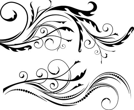pair of beautiful floral branches Stock Vector - 10707267