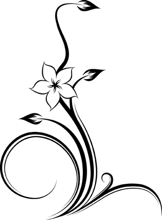 grafica: Esquina floral  Vectores