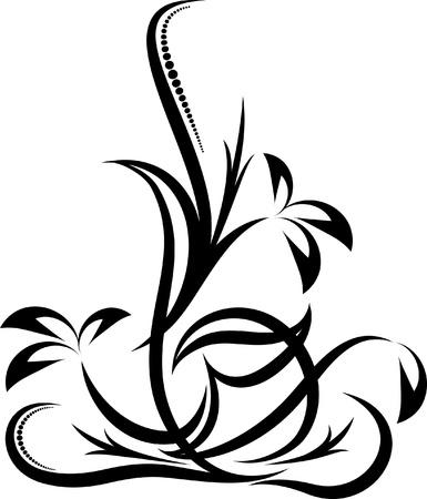 beautiful floral corner Stock Vector - 10707135