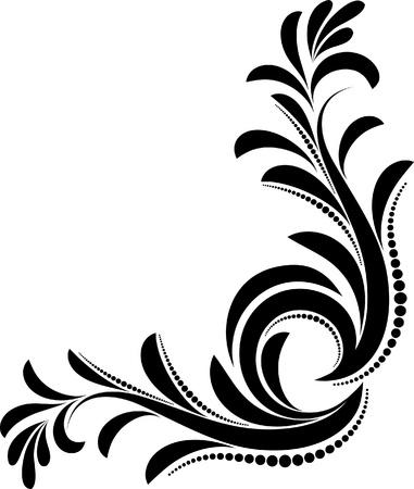 eleganz: schönen Blumen-Ecke