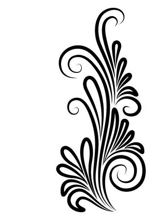 beautiful floral corner Stock Vector - 10707133
