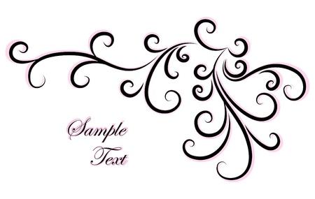 scroll design: Decorative abstract corner.  Illustration