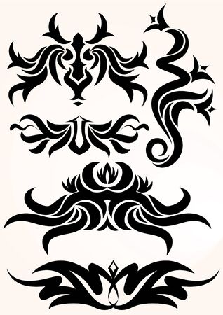 Elements for design or tattoo. Stock Vector - 10707184