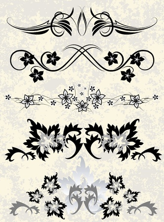 Collection of decorative elements.  Vector