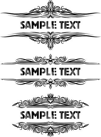 gothique: El�gant cadres textes.