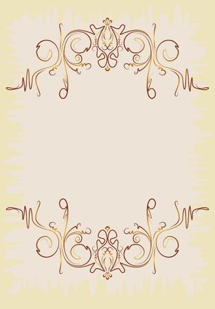 decorative vintage background Stock Vector - 10707445