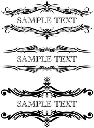 Elegant teksten frames. Stock Illustratie
