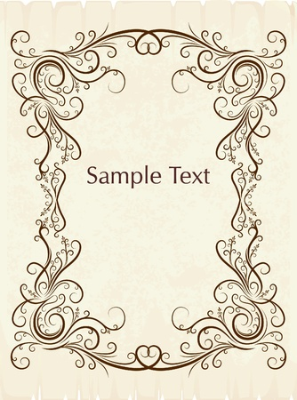 decorative vintage background  Stock Vector - 10709002